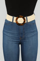 Bendy Straw Belt - Beige