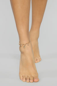 My Lucky Star Anklet - Gold