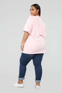I Need Bags Not Boys Tunic Top - Pink