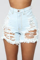 Going To Extremes Bermudas - Light Blue Wash
