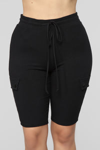 Big Chillin Biker Short Set - Black