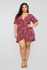 Watch Me Bloom Floral Mini Dress - Black/combo