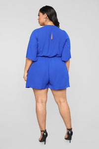 Tied Up Romper - Royal Angle 8