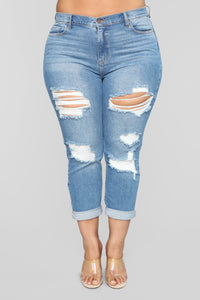 I Got It From My Mama Distressed Jeans - MediumBlueWash Angle 9