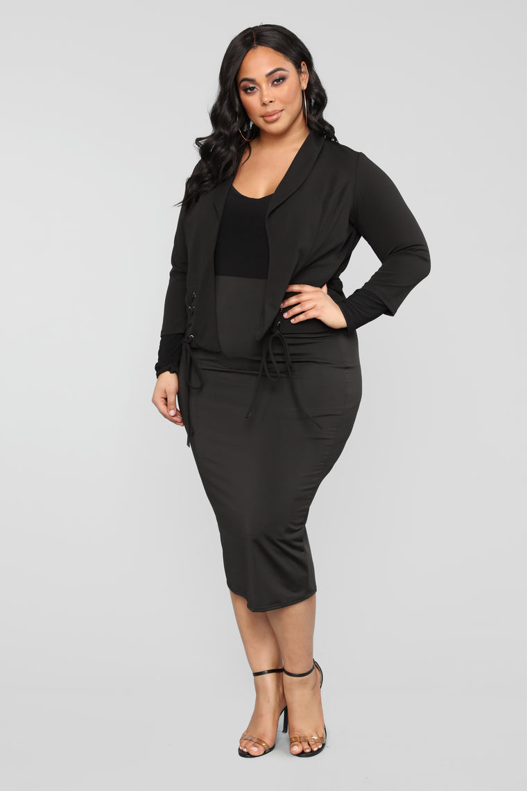 Tie Me Up Blazer - Black