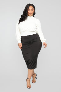 Can't Hold Me Back Blouse - Ivory Angle 8