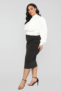 Can't Hold Me Back Blouse - Ivory Angle 10