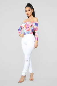 Sweet Floral Bodysuit - MultiColor