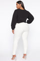 Lips Like Candy Cropped Sweatshirt - Black