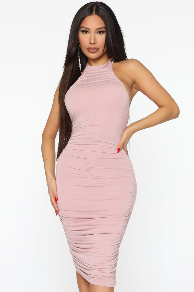 Nova Star Midi Dress - Rose