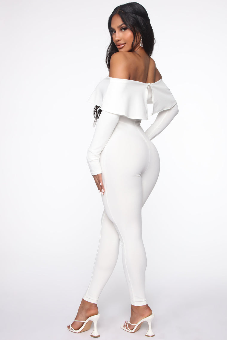 Very V Wire Jumpsuit - Ivory