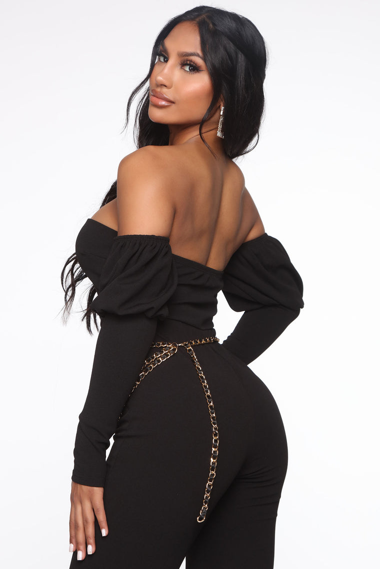 Vida Mia Stacked Jumpsuit - Black