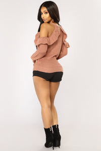 Love Struck Long Sleeve Sweater - Mauve