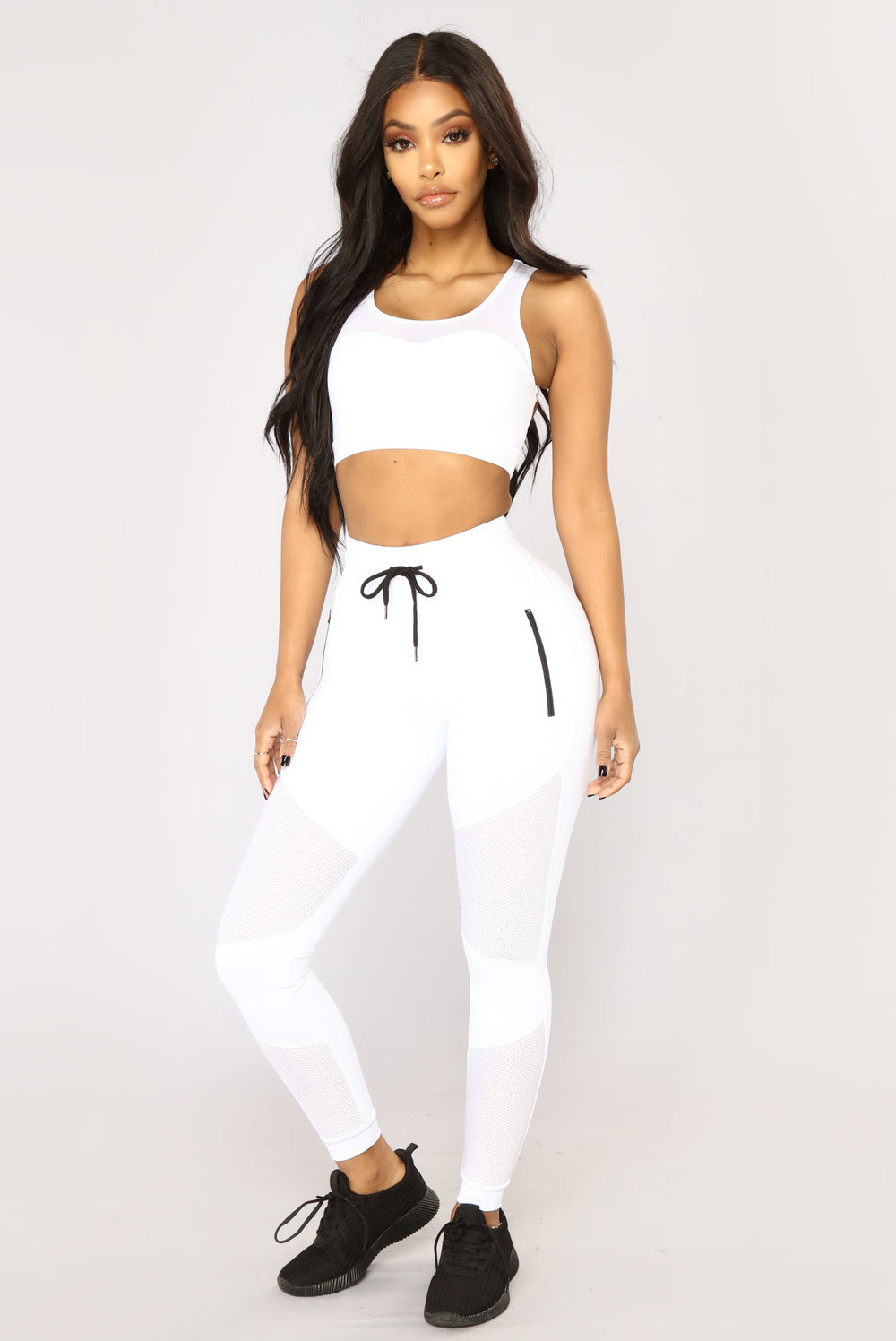 Angel With Wings Mesh Sports Bra - White