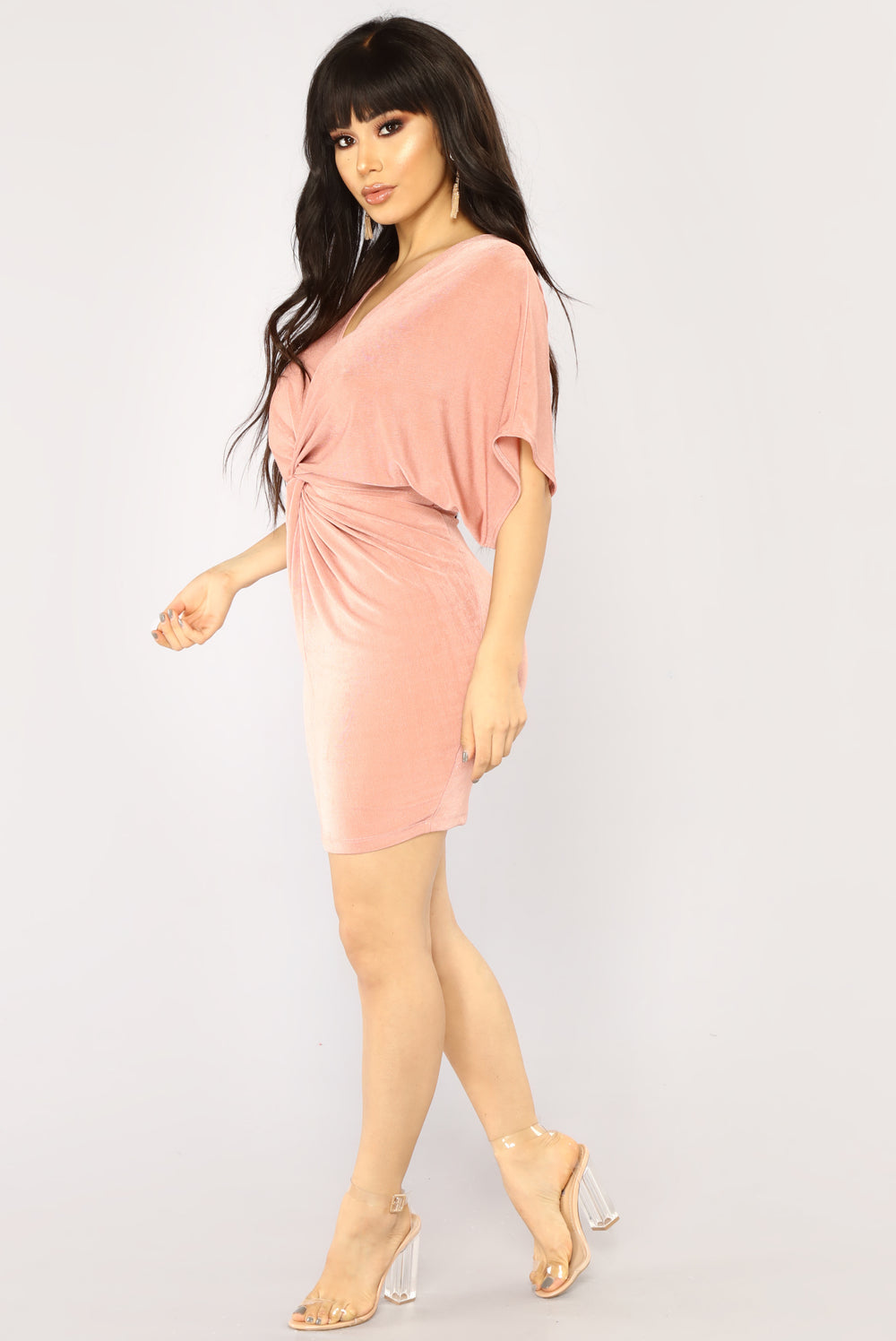 Good Old Daze Mini Dress - Mauve
