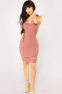 Ena Mini Dress - Mauve