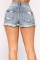Every Kind Of Way Denim Shorts - Medium Blue Wash