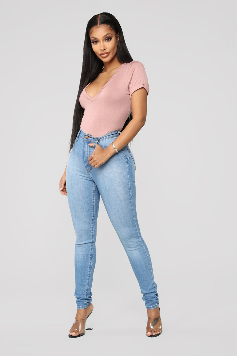 Classic Sweetheart Skinny Jeans - Light Blue Wash