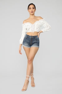 I'll Be Your Baby Girl Top - White