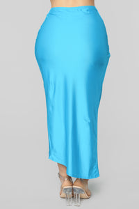 Brighten My Night Skirt Set - Aqua