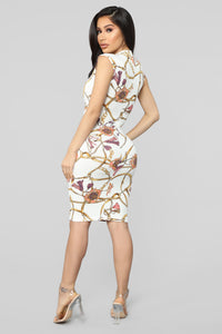 Let's Get Serious Midi Dress - Ivory