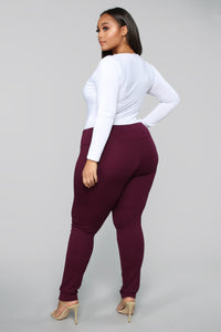All Tucked In Legging - Purple