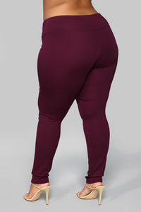 All Tucked In Legging - Purple Angle 4