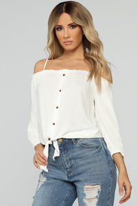 I'm So Knot In The Mood Top - White