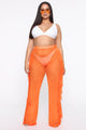 Sunshine See Through Cover Up Pant - Orange