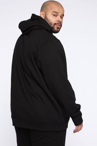 Miguel Reflective Hoodie - Black Angle 7