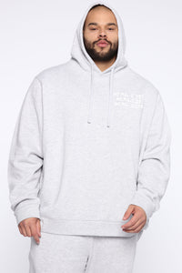 Miguel Reflective Hoodie - Heather Grey Angle 5