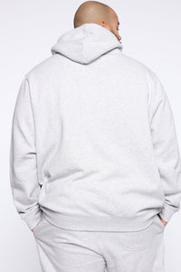 Miguel Reflective Hoodie - Heather Grey Angle 7