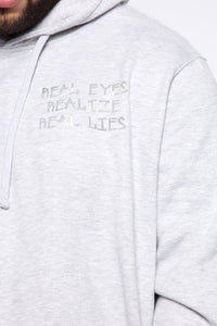 Miguel Reflective Hoodie - Heather Grey Angle 8