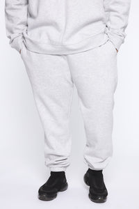 Miguel Jogger - Heather Grey Angle 5