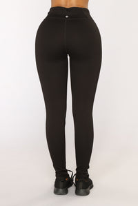 Racquel High Rise Ponte Leggings - Black Angle 6
