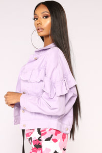 Stand Out Ruffle Jacket - Lavender