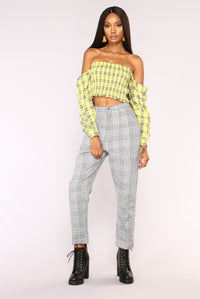 Over Your Plaid Top - Yellow Angle 2