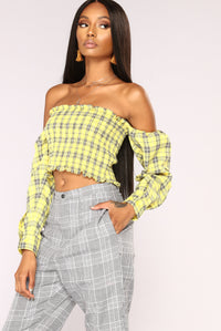 Over Your Plaid Top - Yellow Angle 1