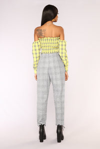 Over Your Plaid Top - Yellow Angle 6