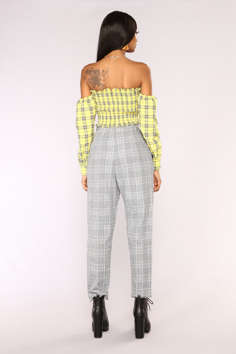 Over Your Plaid Top - Yellow