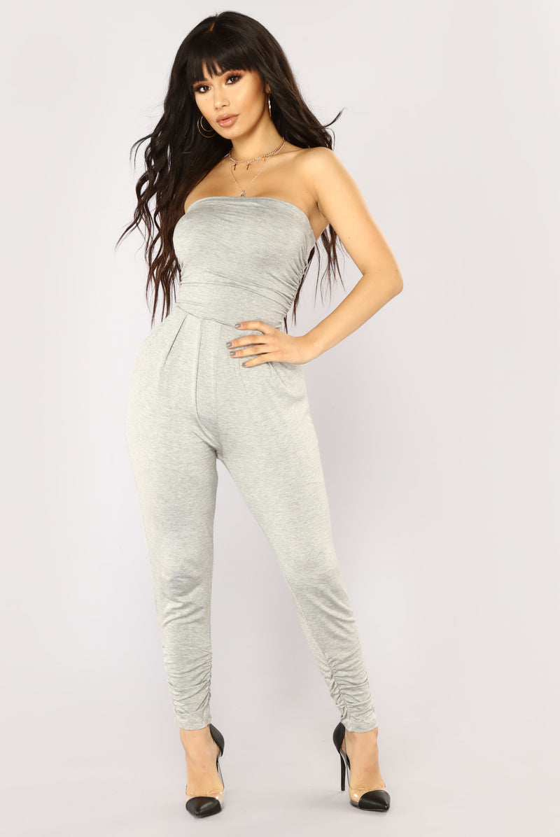 Isabelle Tube Jumpsuit - Heather Grey