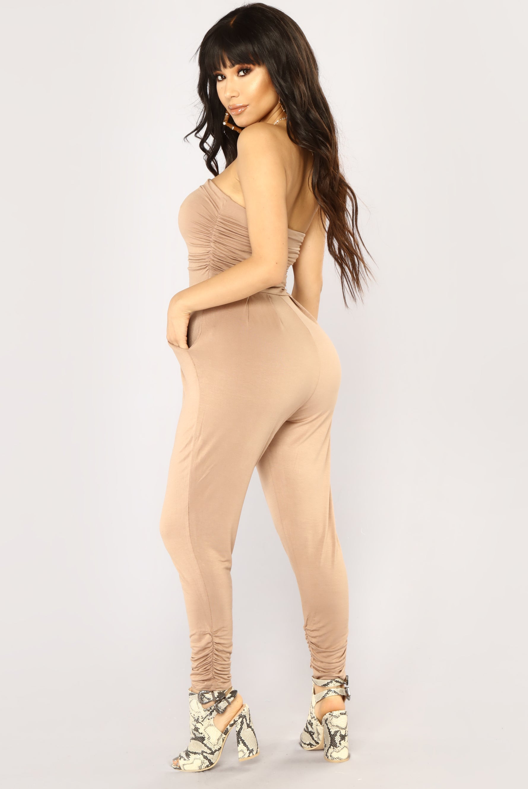 2646d84108 Isabelle Tube Jumpsuit - Taupe