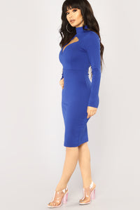 Davi Cutout Dress - Royal