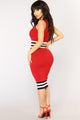 Graduate Knit Dress - Red