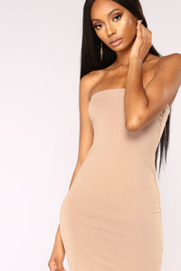 Rhianna Tube Dress - Taupe