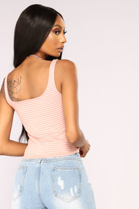 Ora Striped Tank Top - Pink Combo