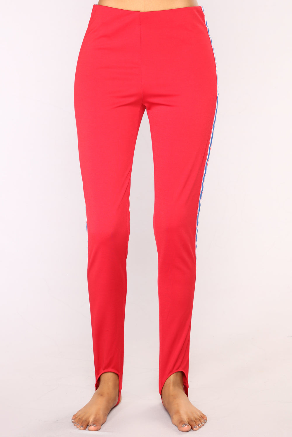 Date With Bella Leggings - Red/Navy