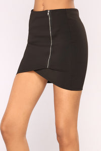 Complete Kisses Mini Skirt - Black