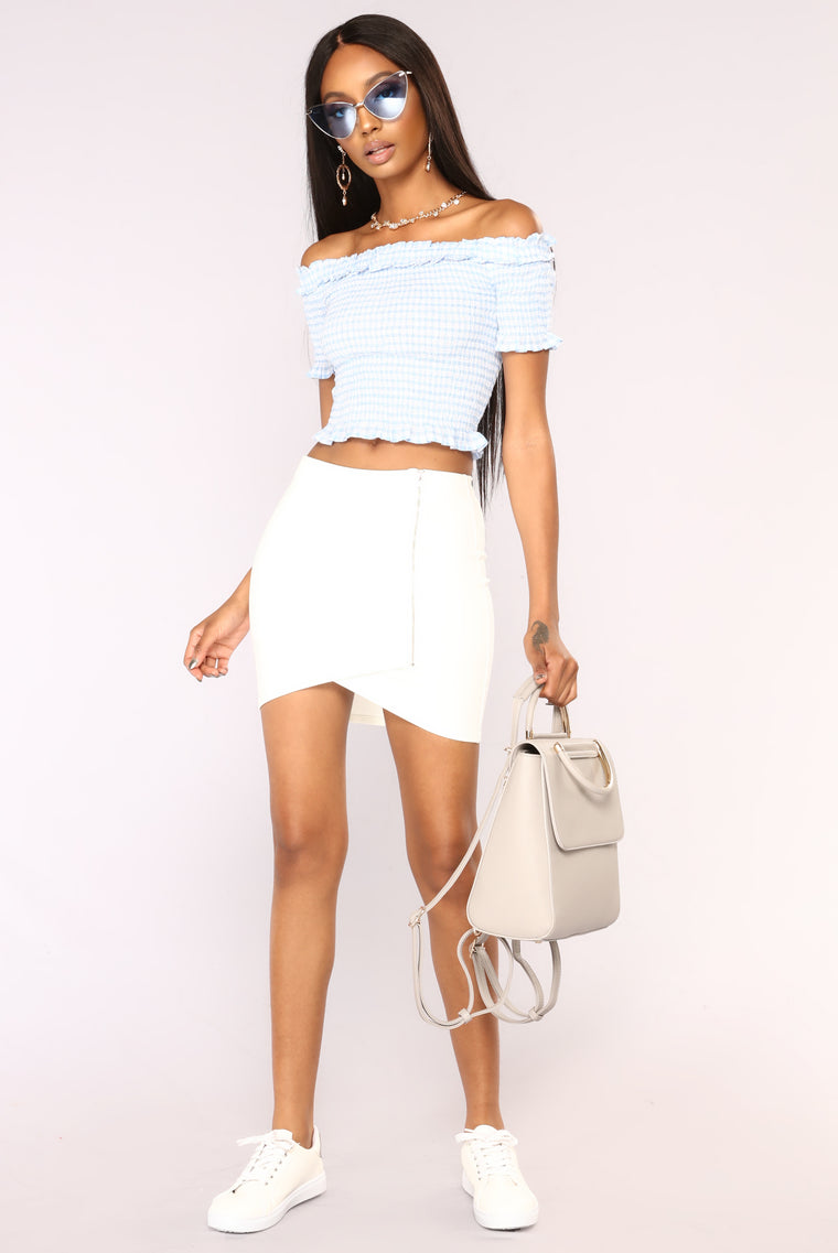 Complete Kisses Mini Skirt - Ivory