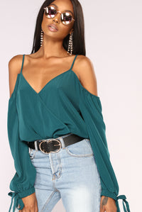 Kaydence Cold Shoulder Top - Hunter